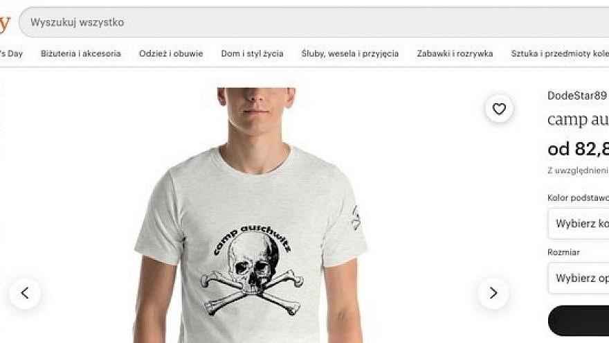 "A ""Camp Auschwitz"" T-shirt on Etsy. Source: Screenshot."