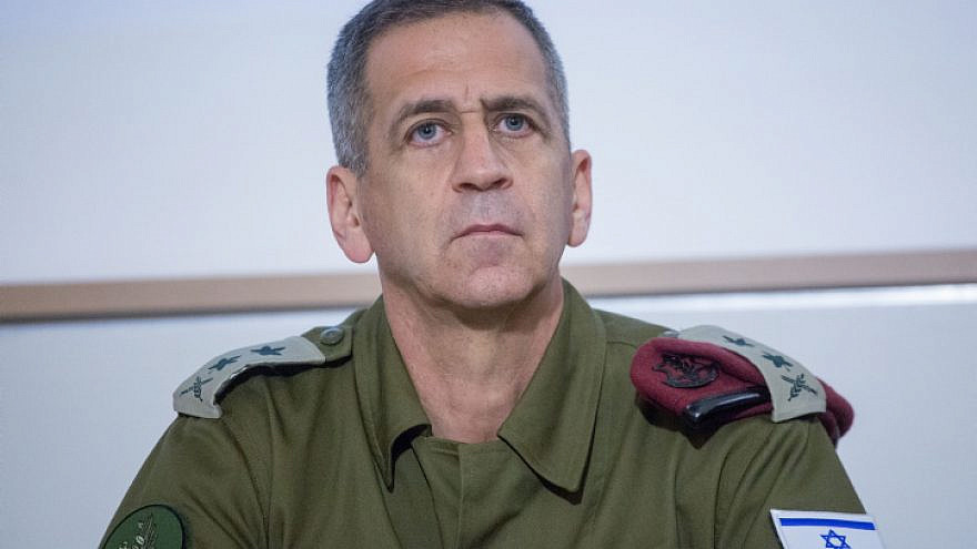 IDF Chief of Staff Aviv Kochavi delivers a statement to the press on November 12, 2019.Photo by Miriam Alster/Flash90