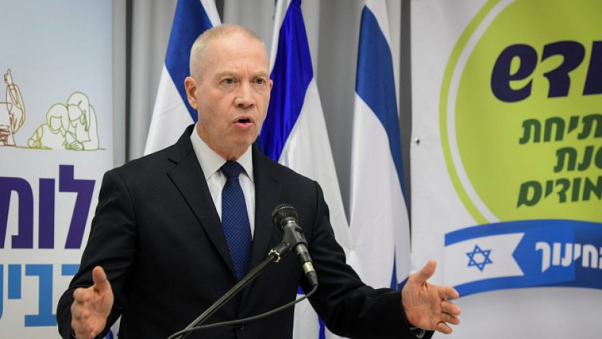 Minister of Education Yoav Galant holds a press conference at the education ministry in Tel Aviv on August 6, 2020. Photo by Avshalom Sassoni/Flash90.