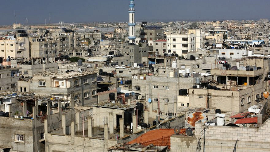 Palestinian homes in the Rafah refugee camp in the southern Gaza Strip, Nov. 28, 2020. Photo by Abed Rahim Khatib/Flash90.