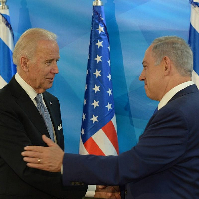 Israeli PM Benjamin Netanyahu meets with U.S. Vice President Joe Biden in March 2016. Photo by Amos Ben Gershom/GPO.