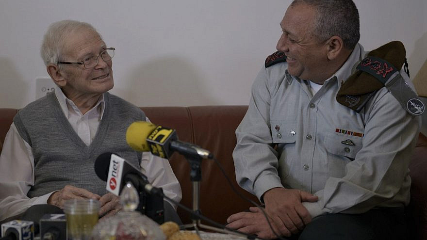 Holocaust education takes place within the units of the Israel Defense Forces, as here, in past years meeting one-on-one with survivors. Credit: IDF.