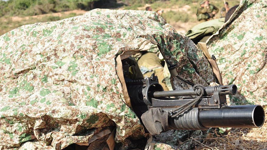 """""""Kit 300"""" was developed by Polaris Solutions using special Thermal Visual Concealment (TVC) material. This led to the development of a lightweight camouflage sheet that can also double up as a stretcher. Credit: Israeli Ministry of Defense."""