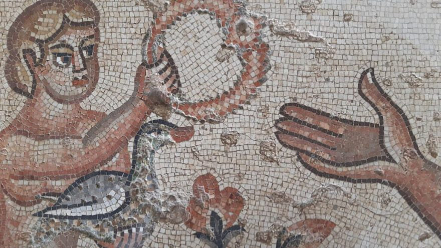 The mosaic at the fifth century Beit Alpha synagogue in northern Israel. Photo by Boaz Eshkol.