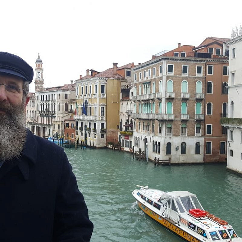 Rabbi Eliahu Birnbaum in Venice, Italy. Credit: Courtesy.