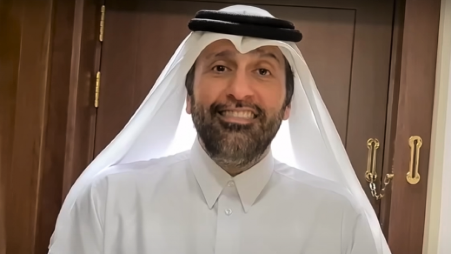 Qatari TV host Abd Al-Aziz Khazraj Al-Ansarai. Source: YouTube.