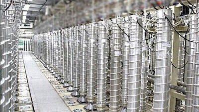 Uranium-enrichment centrifuges at Iran's Natanz nuclear facility. Credit: Tehran Times.
