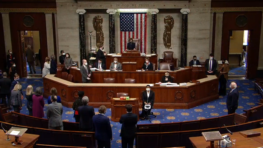 U.S. House of Represenatives moving to impeach President Donald Trump for a second time on Jan. 14, 2020. Source: Wikimedia Commons.
