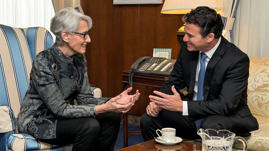 Under Secretary for Political Affairs Wendy Sherman with Yossi Cohen, national security adviser to the prime minister of Israel, at the U.S. Department of State in Washington, D.C., on Feb. 18, 2015. Credit: U.S. Department of State.