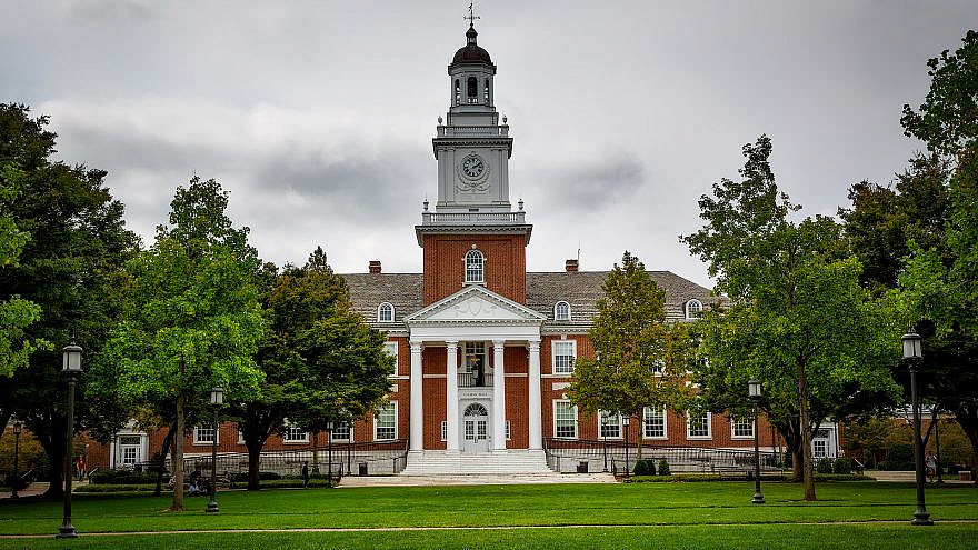 Gilman Hall at John Hopkins University. Credit: Pixabay/David Mark.