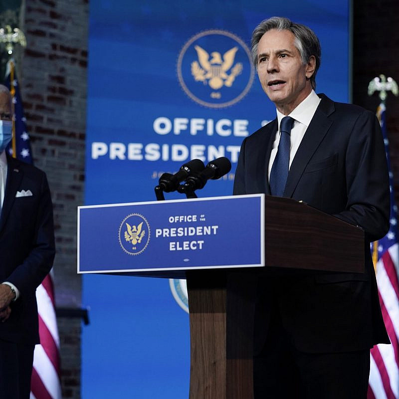 Antony Blinken, U.S. Secretary of State nominee, speaking alongside Joe Biden. Credit: vasilis asvestas / Shutterstock.com