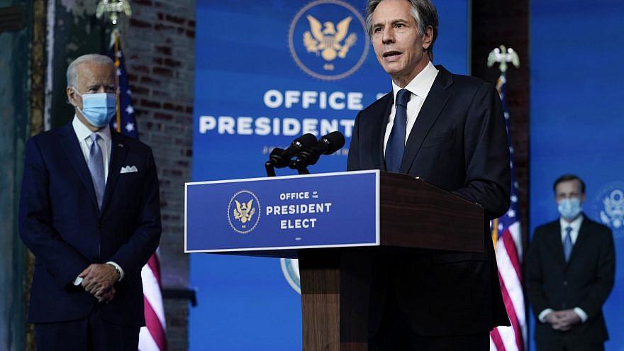 Antony Blinken, U.S. Secretary of State nominee, speaking alongside U.S. President Joe Biden. Credit: vasilis asvestas/Shutterstock.com