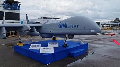 The Israel Aerospace Industries Heron MK II drone. Photo courtesy of Israel Aerospace Industries.