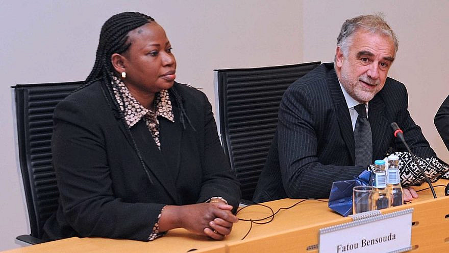 Then-ICC Chief Prosecutor Luis Moreno Ocampo (right) on Feb. 7, 2012, with Fatou Bensouda, who replaced him in the role four months later. Credit: Estonian Foreign Ministry via Wikimedia Commons.