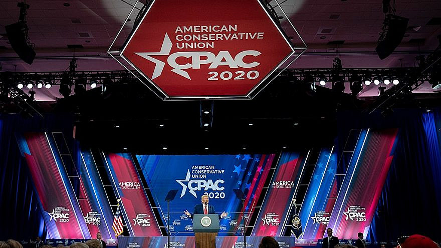U.S. President Donald Trump speaks at the Conservative Political Action Conference (CPAC) at the Gaylord National Resort and Convention Center in Oxon Hill, Md., Feb. 29, 2020. Photo by Tia Dufour/White House.