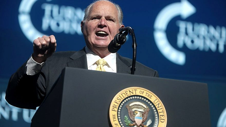 Rush Limbaugh. Credit: Wikimedia Commons.