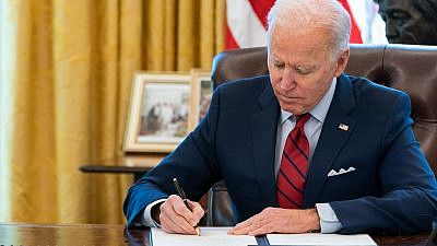 U.S. President Joe Biden in the Oval Office. Jan. 28, 2021. Source: U.S. President Joe Biden/Facebook.