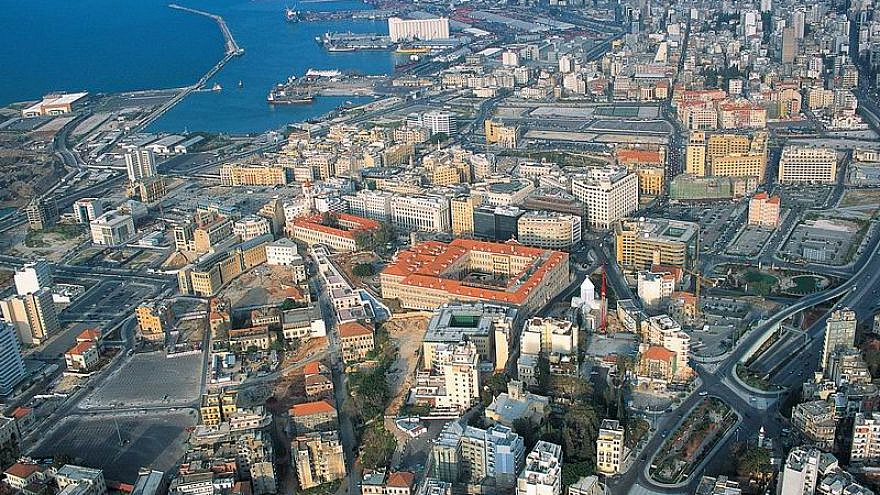 An aerial view of northern Beirut, 2005. Credit: Wikimedia Commons.