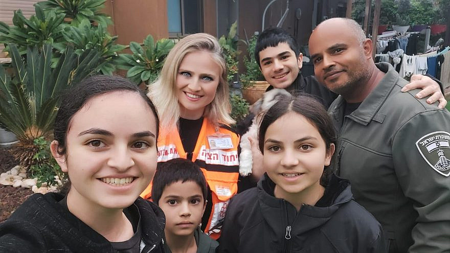 Vicky Tiferet, a volunteer EMT with United Hatzalah, was appointed as head of the organization's Emek HaHula chapter, becoming the first woman in the organization to hold such a post, January 2021. Credit:  United Hatzalah.