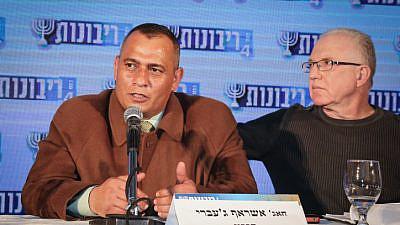 "Ashraf Jabari attends the Moreshet Conference of the ""Besheva"" group, on Feb. 12, 2017. Photo by Gershon Elinson/Flash90."