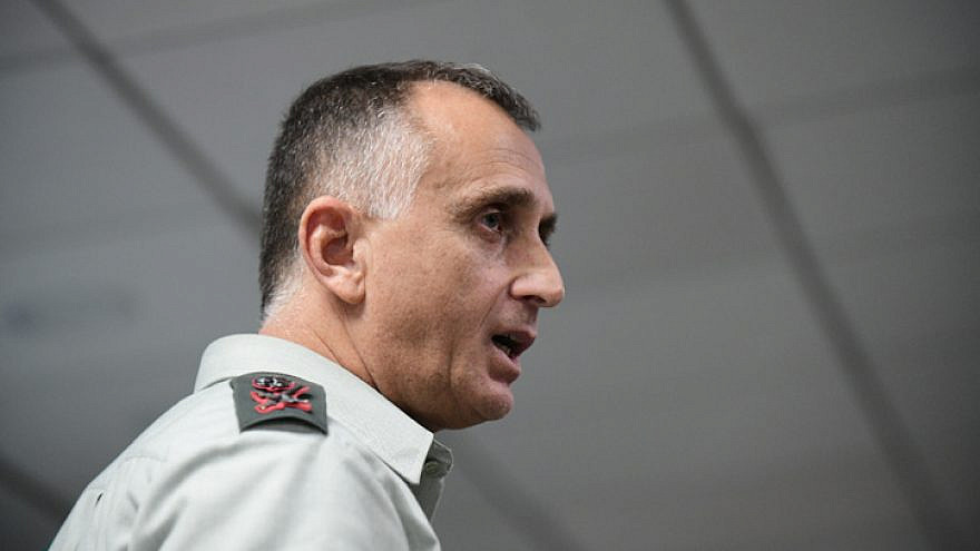 Maj. Gen. Tamir Hayman, chief of IDF Military Intelligence, at the annual conference of the Institute for National Security Studies, in Tel Aviv, on Jan. 28, 2020. Photo by Tomer Neuberg/Flash90.