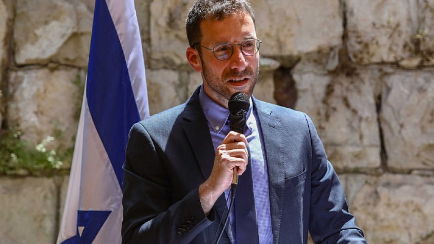 Labor, Social Welfare and Social Services Minister Itzik Shmuli speaks at an event in Jerusalem on May 18, 2020. Photo by Shlomi Cohen/Flash90.