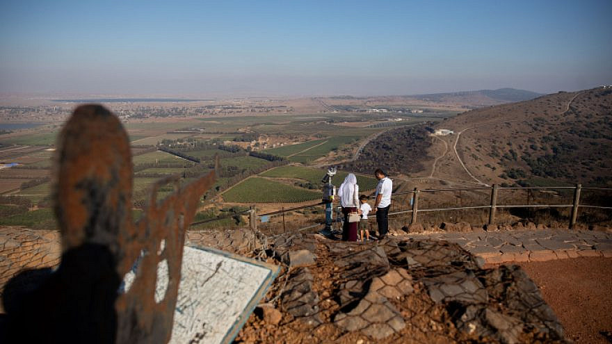 A view from Mount Bental, overlooking the border with Syria, in the Golan Heights on Aug. 22, 2020. Photo by Yonatan Sindel/Flash90.