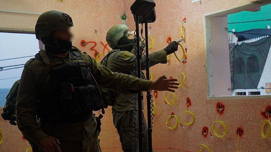 IDF forces demolish the living quarters of Palestinian terrorist Muhammad Cabha on Feb. 10, 2021. Credit: IDF.
