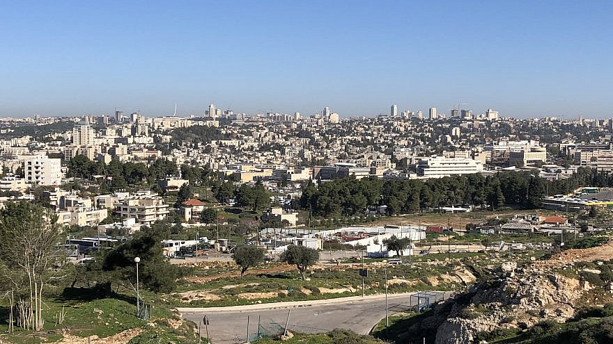A view of the mostly empty Givat Hamatos neighborhood of Jerusalem, just minutes from the city's center. Credit: Josh Hasten.