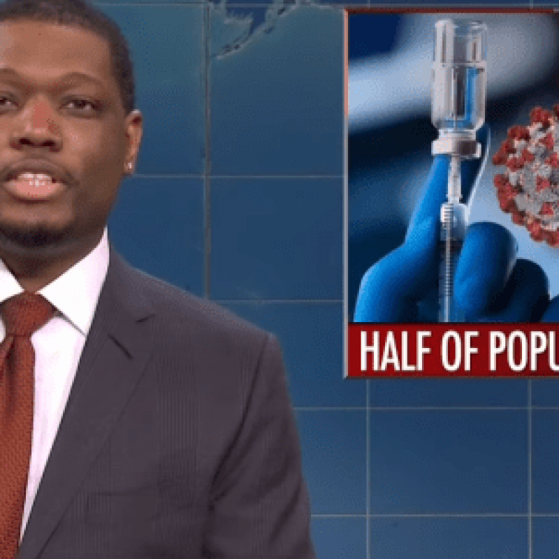 """SNL Weekend Update"" anchor Michael Che. Source: Screenshot."