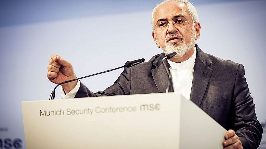 Iranian Foreign Minister Mohammad Javad Zarif speaking at the Munich Security Conference in 2019. Credit: Wikimedia  Commons/Security Conference.