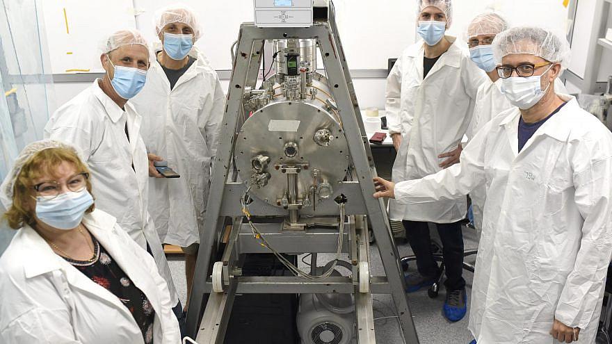 "Part of the nanosatellite team at Tel Aviv University. The university's ""AU-SAT1"" satellite was launched on Feb. 20, 2021. Credit: TAU Spokesperson's Department."