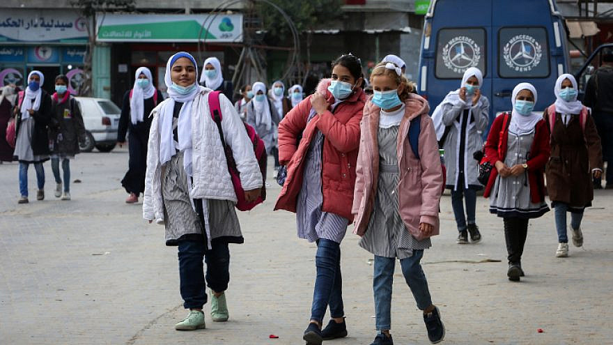 Palestinian students affiliated with UNRWA in the southern Gaza Strip, Nov. 25, 2020. Photo by Abed Rahim Khatib/Flash90.