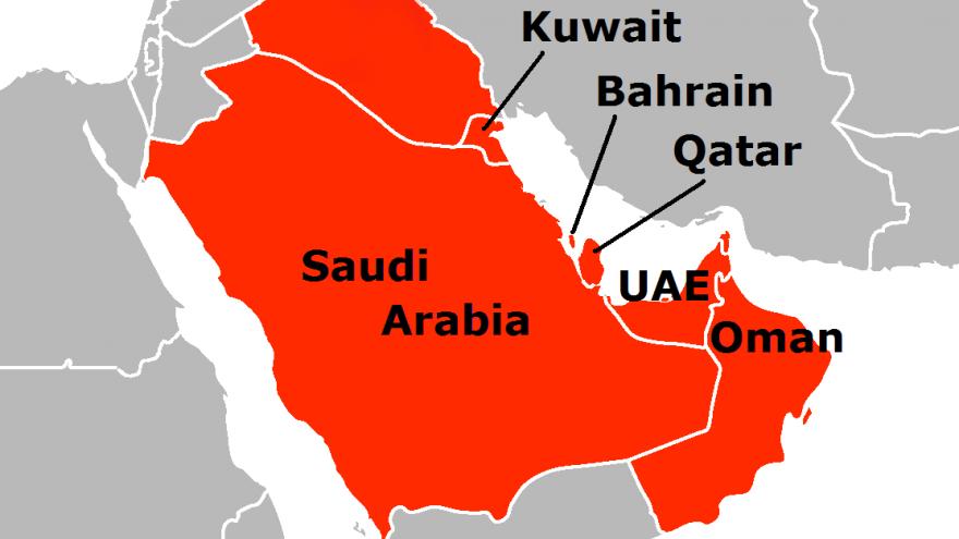 Persian Gulf states. Credit: Wikipedia.