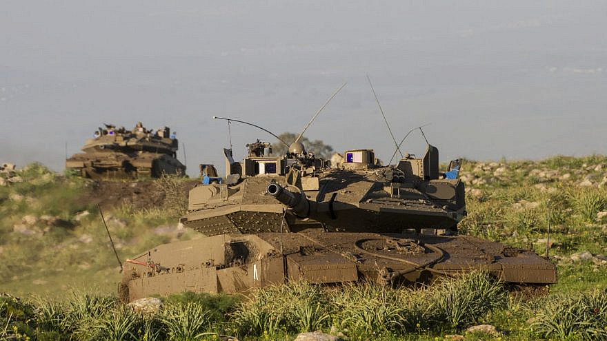 Rafael's Trophy system on an IDF Merkava 4 tank. Credit: Rafael Advanced Defense Systems.