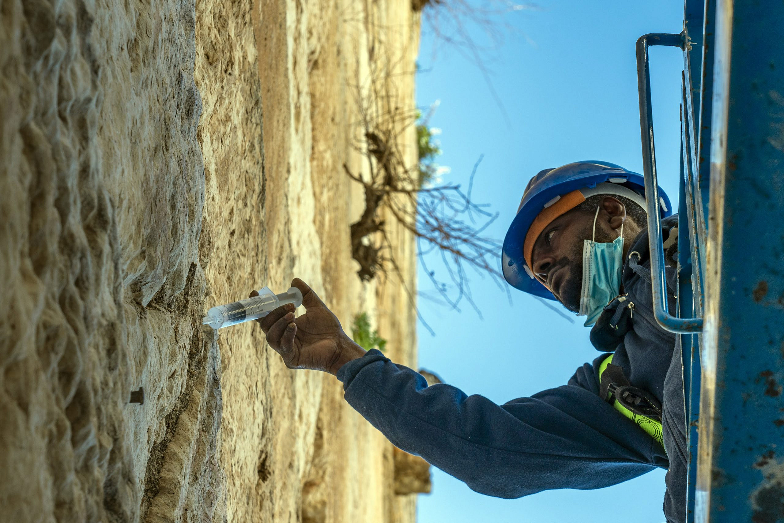 Western Wall Stones Get 'Injection' Before Passover 2