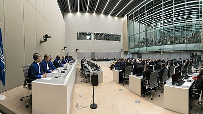 The judges of the International Criminal Court and eminent guests at the opening of the ICC judicial year on Jan. 18, 2018. Credit: ICC-CPI.