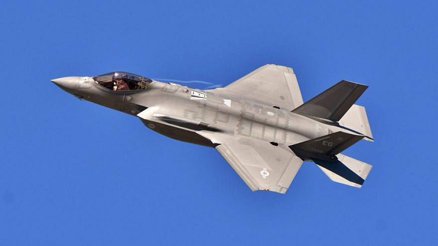 """A U.S. Air Force F-35 Joint Strike Fighter (""""Lightning II"""") jet flying. Credit: Michael Fitzsimmons/Shutterstock."""