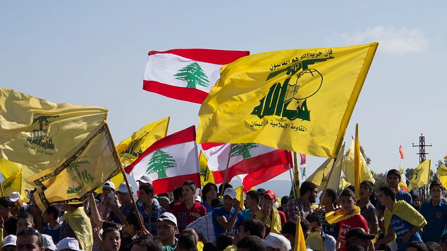 Hezbollah's supporters at Liberation Day. Bint Jbeil, 25 May 2014. Credit: Gabriele Pedrini/Shutterstock.