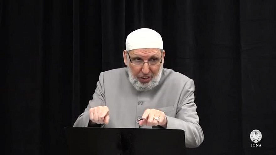 Imam Mustapha Elturk, Ameer of the Islamic Organization of North America Elturk, gives a sermon on March 5, 2021. (MEMRI)