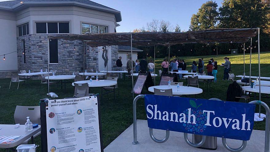 High Holiday service preparations by Hillel at Virginia Tech in Blacksburg, Va. Source: Hillel at Virginia Tech via Facebook.