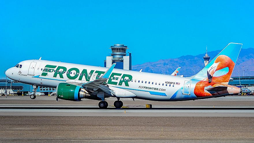 A Frontier Airlines Airbus A-320. Credit: Wikimedia Commons.