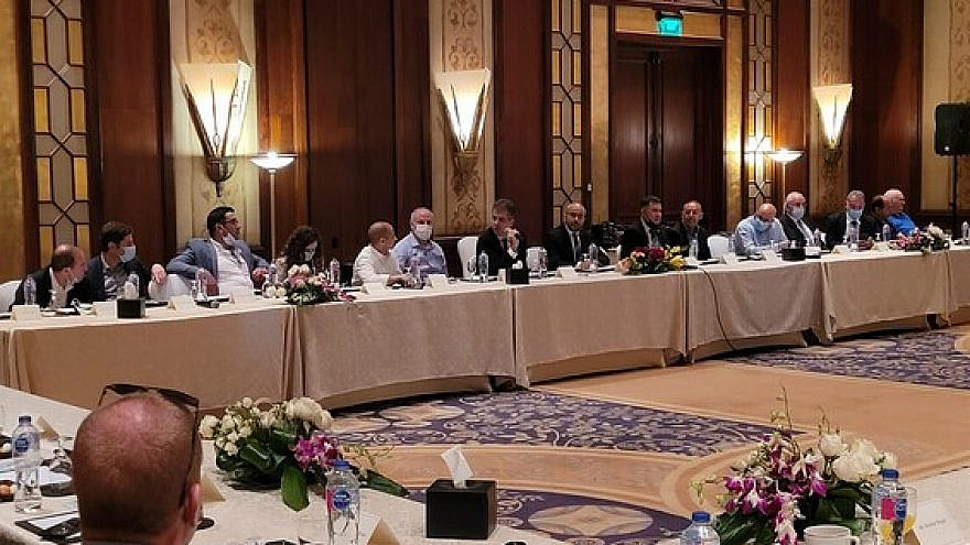 Egyptian and Israeli officials attend an economic conference in Sharm el-Sheikh in March 2021. Credit: Israeli Intelligence Ministry.