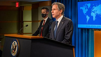 U.S. Secretary of State Antony Blinken delivers remarks to the media at the State Department in Washington, D.C., on Feb. 26, 2021. Credit: State Department Photo by Ron Przysucha.