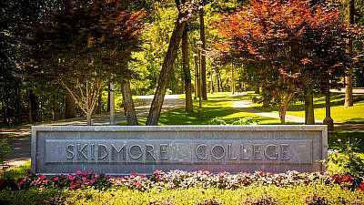 The entrance of Skidmore College in Saratoga Springs, N.Y. Credit: Skidmore College.