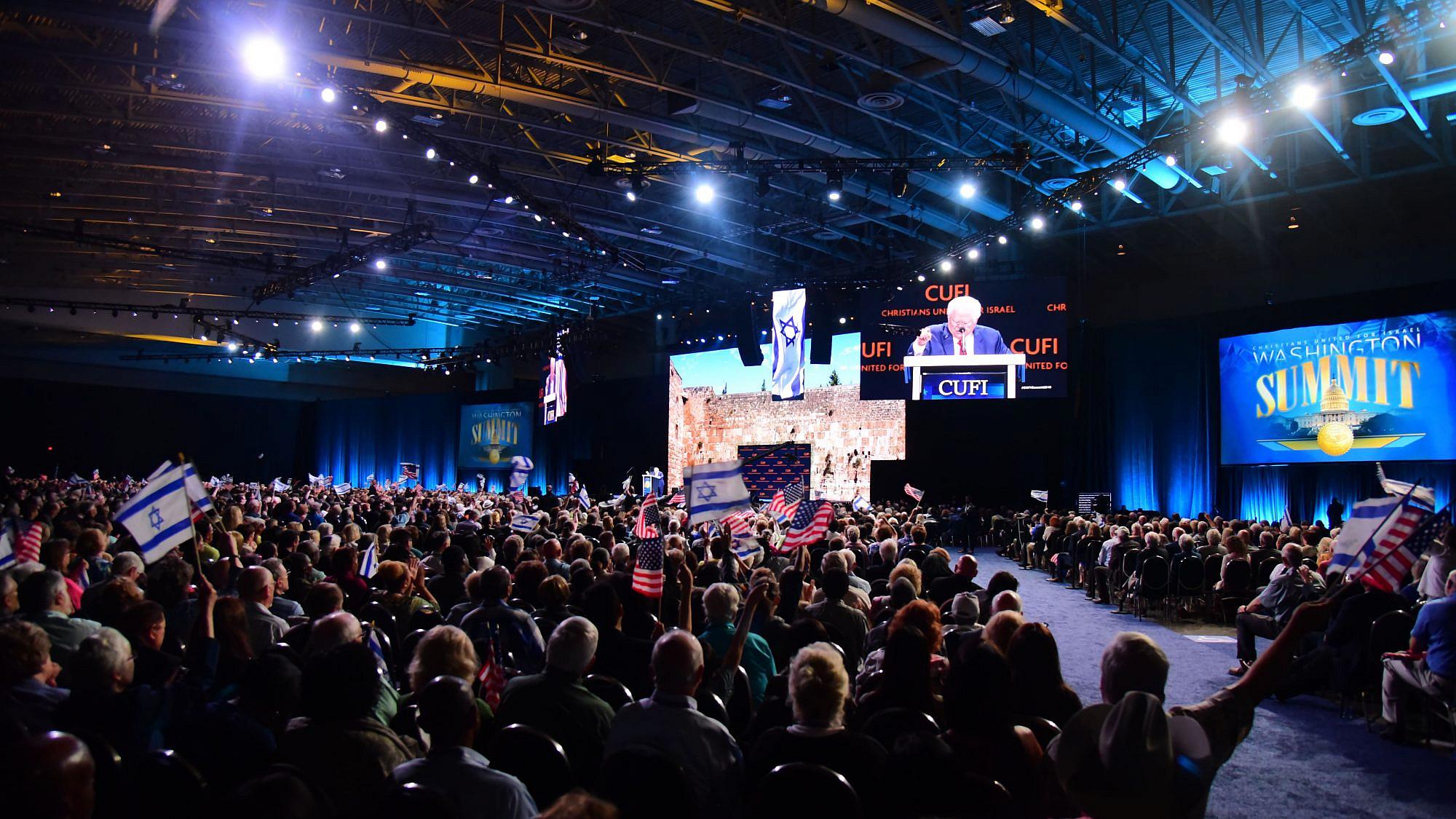 CUFI chairman Pastor John Hagee speaking at the 2019 CUFI Washington Summit. Credit: Courtesy.