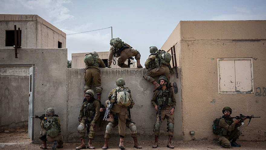 Israeli soldiers conducting a training exercise. Credit: IDF Spokesperson's Unit.