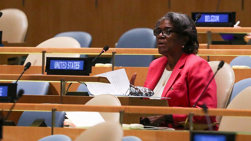 U.S. Ambassador to the U.N. Linda Thomas-Greenfield. Source: Ambassador Linda Thomas-Greenfield via Twitter.
