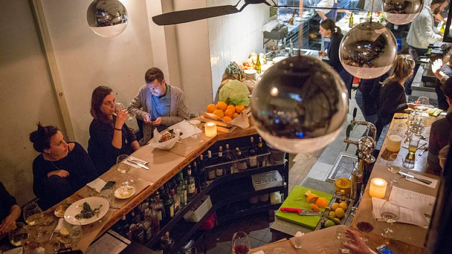 "The ""North Abraxas"" restaurant in Tel Aviv, Feb. 22, 2017. Photo by Miriam Alster/Flash90."