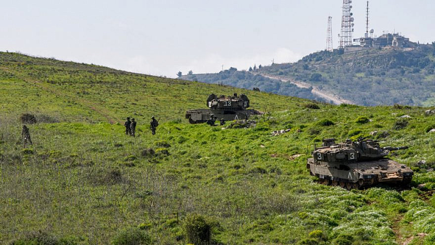 Israeli soldiers near the border with Lebanon, in the area around Kibbutz Misgav Am, March 9, 2021. Photo by Basel Awidat/Flash90.